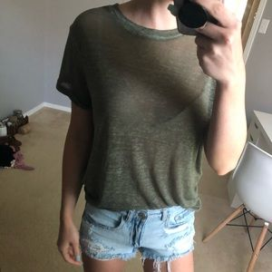 Forever 21 Army Green short sleeve